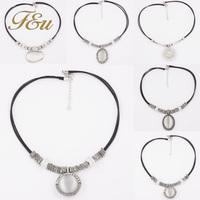 Fashion Vintage Austria Crystal Sweet style half rhinestone crystal clover Pendant Necklace #2157