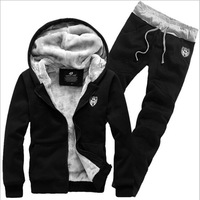 Plus Size M-3XL 2014 Top Brand Men Hoodies Winter Increasing Heat Warm Hooded Fleece Suits Hot Sales Men's Leisure Suit AX851