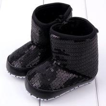 trendy infantile neonate paillettes alta stivali morbidi fondo antiscivolo bambino shoesfree & trasporto di goccia(China (Mainland))