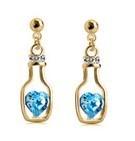 Fashion Austrian crystal earrings love bottles Fashion Jewelry 60080E065