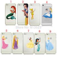 Princess Snow White Frozen Elsa Mermaid Ariel  Logo Clear Case For iPhone 6 4.7 inch plus 5.5 inch