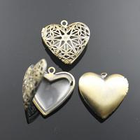15mm DIY Necklace Pendants,Brass Antique Bronze Pendant European style Prayer Craft Photo Frame Locket Box,Jewelry Finding