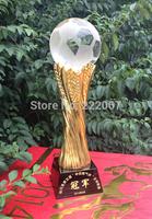 Crystal basketball football tennis volleyball TaiQiuSai golf cup fans a birthday present