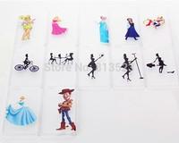 "For iPhone 6 4.7""  plus 5.5 "" Cartoon Transparent Case Cover homer Simpsons Snow white Frozen Elsa Anna Stitch Spider-Man Mario"