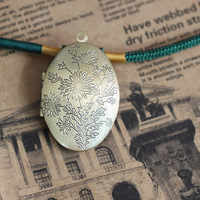 24*41*9mm Antique Bronze European Palace Brass/Copper Picture/Photo Cameo Frame Locket Pendant Setting,Free shipping