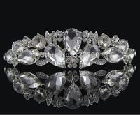 Big water drop crystal bridal tiaras rhinestone wedding crown hair wear jewelry wedding hair accessories