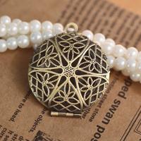 27mm DIY Necklace Pendants,Brass Antique Bronze Pendant European style Prayer Craft Photo Frame Locket Box,Jewelry Finding
