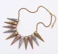 Punk Rivet Choker Necklace Geometric Bib Necklace Fashion Statement Necklace  BJN909805