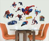 [listed in stock]-UK Hot Spiderman Spider-man Cartoon Boy Room 50x70cm/sheet Nursery Mural Wall stickers