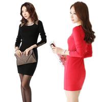 Women Dress Slim Long Sleeve Stretch Clubwear Cocktail  Dress Free&Drop Shipping