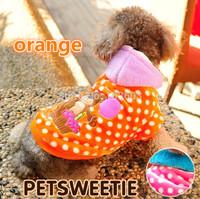 Cartoons Polka Dot Balloons Bear Coat Warm Hooded Sweater Casual Sportswear Pet Dog Teddy Clothes Autumn Winter Clothing Apparel