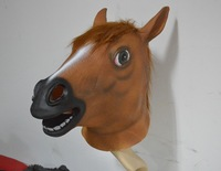Halloween Masquerade horse head mask Party people jump riding dance Latex Remy Martin