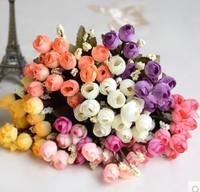 Hot Sale Fashion Bouquet Artificial Roses silk  Flowers Home Garden Wedding Craft Living Room Decoration DIY