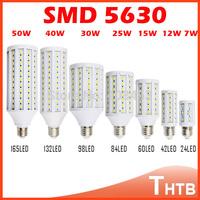 220V 110V E27 5730 5630 LED light E27 E14 9W 12W 15W 25W 30W 40W 50W LED Corn lighting light Bulb Led Lamp lamps 1pcs/Lot