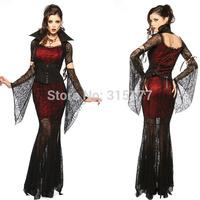 Free shipping Halloween Vixen Vampire Costume 2014 Women Halloween Costume Wholesale 10pcs/lot Fancy dress 8836