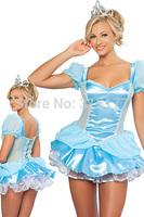 Free shipping Cinderella Fancy Dress Costume 2014 Women Wholesale 10pc/lot Halloween Fancy dress costume 8842