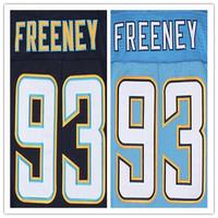 Cheap Stitched Custom Men's American Football Jersey #93 Dwight Freeney Elite Jersey,Accept Drop Shipping