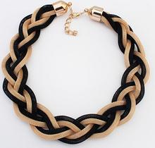 2014 new fashion Bohemian style Punk Fashion Simple Metal braid Twist Chain necklaces & pendants woman's Necklace!