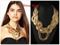 Boho Unique Design Chunky Graceful Gold Plate Chain Claw Style Statement Collar Bib Necklace Women Costume Jewelry Choker,C23