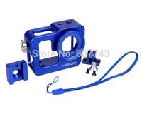 Metal Aluminium Blue Protective Case Shell Housing for GoPro HERO 3 / HERO3+