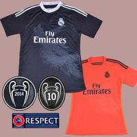 REAL MADRID Third 3rd Black Dragon 14/15 futbol Soccer jersey football kits Shirts Uniforms BALE RONALDO PEPE ISCO RAMOS Modric