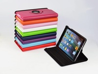 Cover Case For IPad 4 for IPad 3 for IPad 2 Case Pu Leather Smart Cover 3 Fold With Stand Leather 360 Rotating water/dirt proof