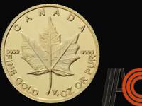 10 Dollars Quarter Ounce 999 Gold plated of 10 pcs/lot of Canadian Maple Leaf Copy MetalGold Coin