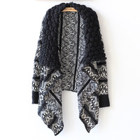 Free shipping 2014 Europe and the United States wind New Women's fashion cardigan The shawl lapel coat sweater Ladies' 9016 #