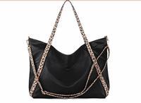 2014 New Big Black Leopard Nylon Ladies Handbags Shoulder Bags Tote Bag For Women Fashion Unique Vintage Design Bolsos Mujer
