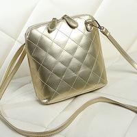 New 2014 Fashion Plaid Women Messenger Bags small bucket women handbag shoulder bags women leather handbags PU leather bags