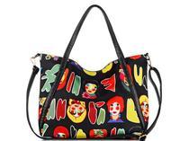 New Arrival Fashion Casual Cartoon Printing Nylon Large Women Bolsas Handbags Shoulder Bags Messenger Bag Bolsa De Ombro