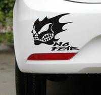 Free Shipping Style Car Stickers, Skeleton Car Decal , No Fear Waterproof On Rear Windshield Door Tank Lid Sticker