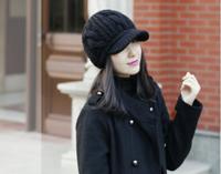 2014 New Fashion Women's Lady Beret Braided Baggy Beanie Crochet Warm Winter Hat Ski Cap Wool Knitted