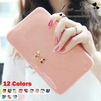 New 2014 High Quality Cute Bowknot women Clutchs women wallets evening bags- Free Shipping - W118