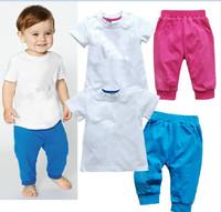 2014 brand  AD baby boys girls clothes sets Children's clothes suits (t shirt+pants)2pcs kid's casual sport suits 5sets/lot