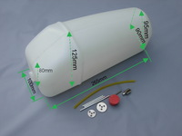 RC Accessories 2500cc jet /uav great  model airplane Fuel Tank