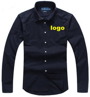 Fashion Business Men shirt long-sleeved dress super cotton  classic embroidered men's shirts