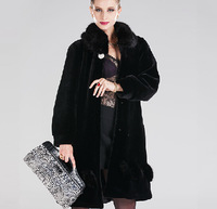 (EMS free shipping) 2014 Women Faux Fur Coat / middle-aged women's fur coat / faux fur coat  imitation mink mink coat / WDX708