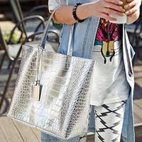 New 2014 fashionable women handbag casual crocodile pattern women leather handbags shoulder bags women messenger bags Totes