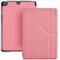 Pink PU Leather Smart Case Cover for  Apple Ipad mini 2 retina