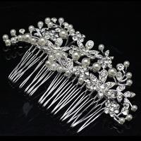 Original Design Floral Bridal Hair Combs Pearl Hair Accessories Wedding Accessories Hairpin