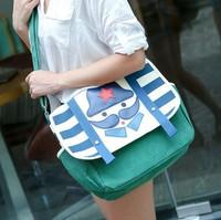 New Arrival High Quality Canvas Messenger Bags Preppy Women Crossbody Beard Shoulder Bag Bolsas Femininas 2014 WJ1057