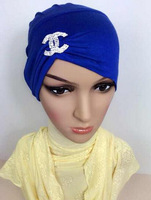 free shipping by DHL muslim caps,islamic underscarf hats with rope at back HW044