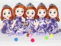 Free Shipping 45cm Sofia princess doll plush toy Sofia the First princess sofia doll girls