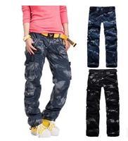 2014 Women Clothing Fashion Women's Army Camo Cargo Pants Girls Baggy Harem Hip Hop Dance Pants Multi-pockets Trousers 89885MC