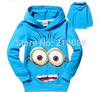 Wholesale 6pc boys girls despicable me 2 children' hoodies sweatshirts Cartoon kids minion outerwear children wear Hoody