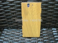 New For Sony Hot Sale High Quality Bamboo Wood Case Cover Hard Back Cover Case Protector For Sony L36i L36h Wooden box Wholesale