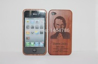 For Apple Real Natural Wood Wooden Bamboo Hard Back Case Cover For iPhone5 5S CherryWood  Jobs  New Arrive. Wholesale