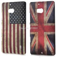 2 X Retro USA/UK Flag Design Hard Skin Cover Case For Nokia Lumia 930