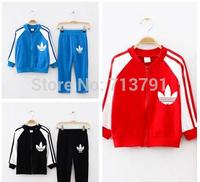 retail Free shipping brand Children's clothing set boys/girls coat+pant fashion clothes  kids set  3 colors boys tracksuit set